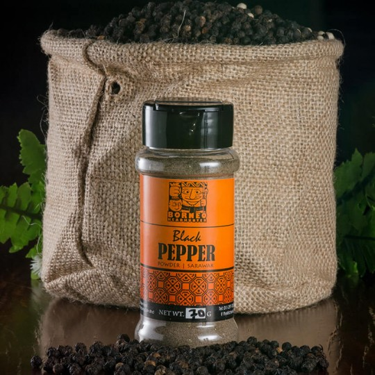 Black Pepper Powder Bottle